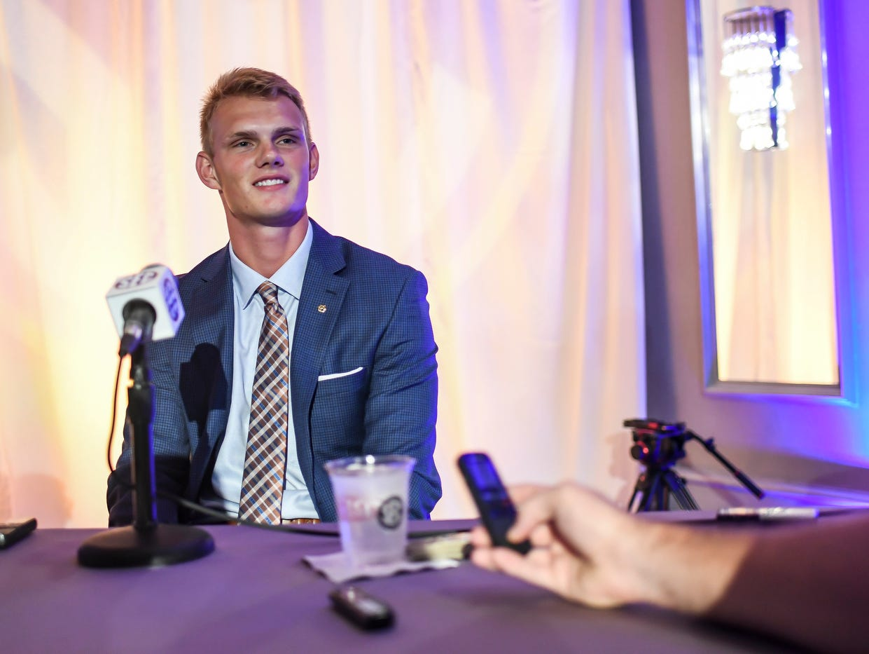 Auburn kicker Daniel Carlson was the only kicker represented in 2017 at Southeastern Conference media days in Hoover, Ala.