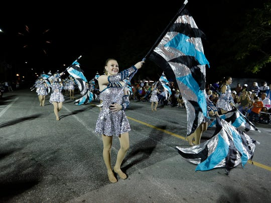 Marching bands were among the most active performers during the 2018 Edison Festival of Light Grand Parade.