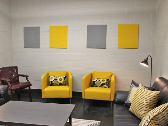 The newly-renovated teachers lounge at Fairview High
