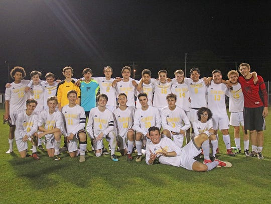 Fairview High Boys Soccer Team win District 12 Championship