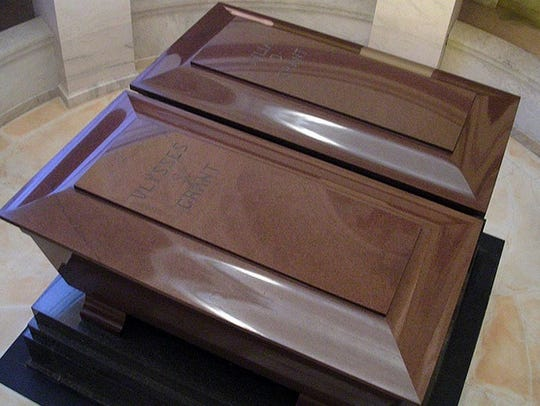 The twin sarcophagi, for Ulysses S. Grant and his wife,