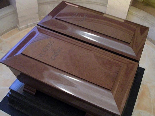 The twin sarcophagi, for Ulysses S. Grant and his wife, Julia Grant.