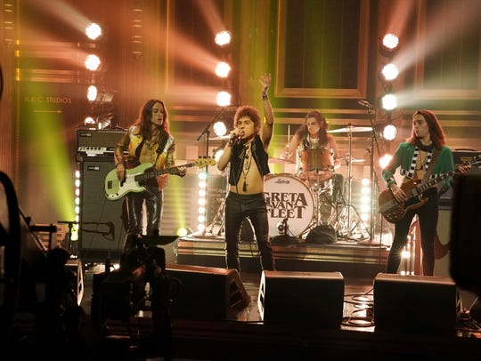 "Greta Van Fleet performs ""When The Curtain Falls"" on"