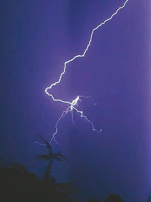 A lightning strike on December 28 caused electrical damage to a Pratt County home.