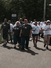 Joe Quinn, his wife Ellen and other family members raised $3,000 for a recent cancer fundraiser walk in New Egypt.