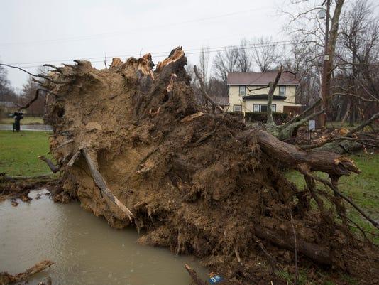 March 1, 2017: Storms, Tornado, Amelia, Pierce Township, Clermont County, damage, Liz Dufour