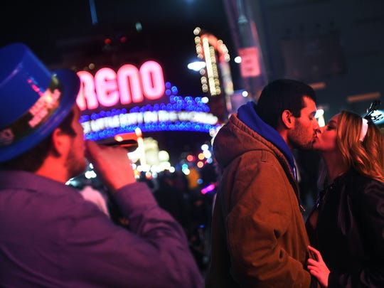 New Year's Eve celebration in downtown Reno on Dec. 31, 2016/Jan. 1, 2017.
