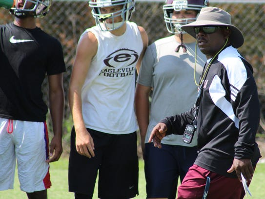 Eagleville coach Floyd Walker will try to get his Eagles