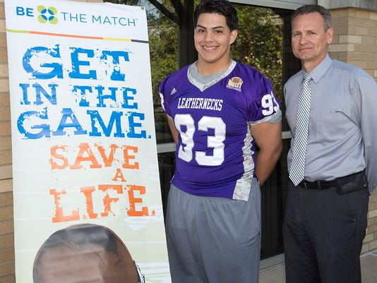 online store 0cef5 b54af College football player to be bone marrow donor for infant