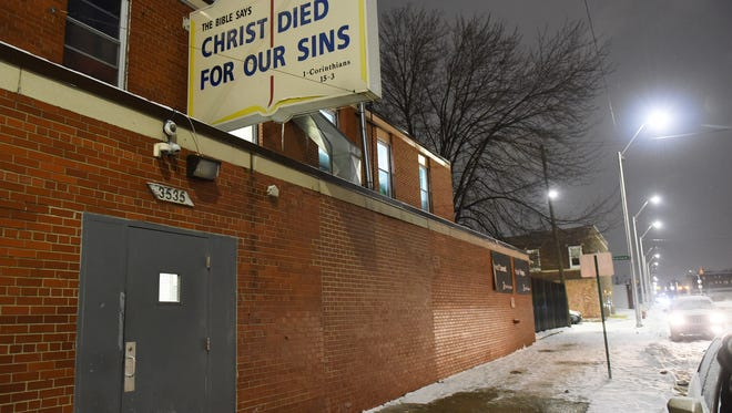 The Detroit Rescue Mission Ministries on Third Avenue provides 100 beds for men who are homeless in Detroit on Jan. 3, 2018. (Robin Buckson / The Detroit News)