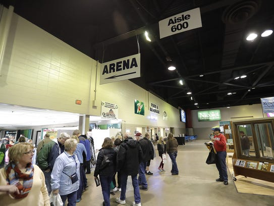 The interior of Shopko Hall during  the WBAY Home &