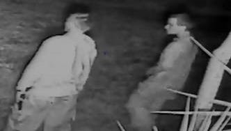 Two men are sought in a burglary in Lee County.