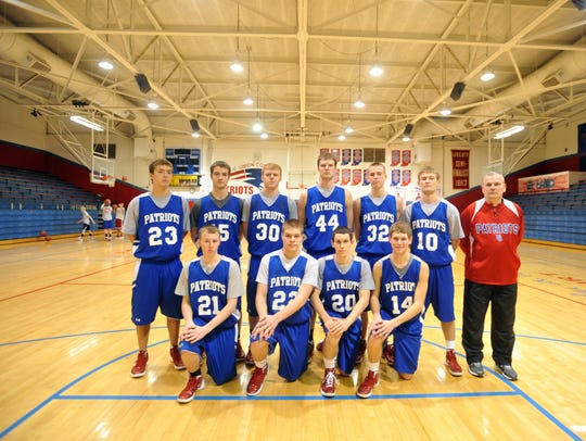 Union County Patriots, from left, front row, Brandon