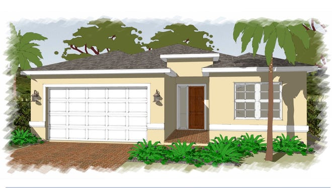 An artist's conception of the Maravilla, a new design at Arrowhead Reserve, a community of single-family homes off Lake Trafford Road in Immokalee.