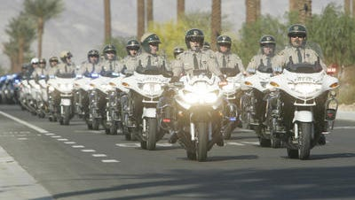 This 2007 Desert Sun file photo shows the funeral procession for Riverside County Sheriff's Deputy Manuel Villegas. A Day of Remembrance run will be held for him Monday in Thermal.