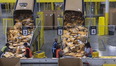 Amazon sortation center in Nashville