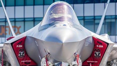 The F-35 at the 2017 Paris Airshow