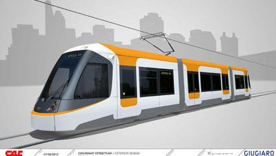 Cincinnati streetcar rendering