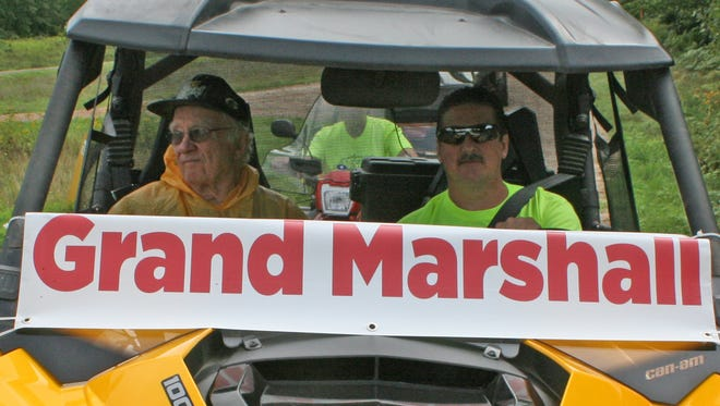Gerry Linssen , past Red Arrow ATV/UTV Club president and longtime club supporter, was Grand Marshall for the 2014 corn roast parade in Townsend. He was driven in the parade by club vice-president Tim Brooks