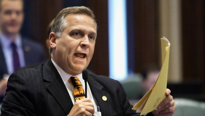 Rep. Mike Bost, R-Ill., is the man Brendan Kelly is seeking to replace in Washington.