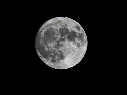 Super moon on Sunday, November 13, 2016.