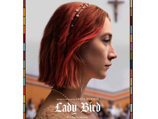 """Join the Asheville Movie Guys for a movie screening of """"Lady Bird"""" at the Fine Arts Theatre, December 11 at 7pm."""