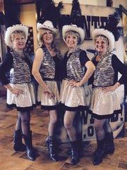 Mesquite Showgirls Marilynn Ridgway (from left), Sherry