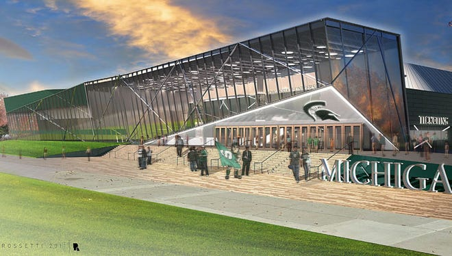 An artist rendering of proposed renovations to MSU's Munn Ice Arena.