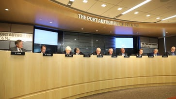 Port Authority commissioners discussing the agency's capital plan at a meeting this month.
