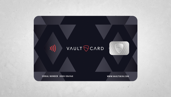The VaultCard is a wallet-sized card that protects