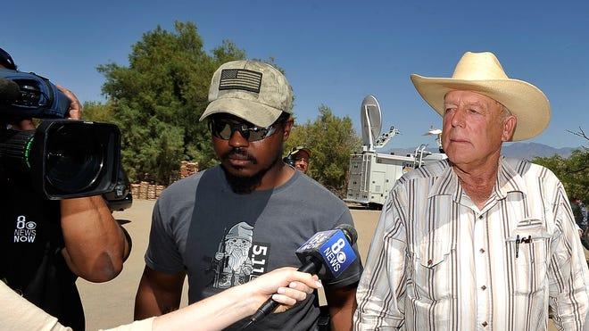 Rancher Cliven Bundy and bodyguard Jayson Bullock.