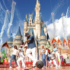In this handout photo provided by Disney Parks, Singer Ne-Yo performs in the Disney Parks Christmas Day Parade television special at Magic Kingdom Park at the Walt Disney World Resort on December 06, 2013 in Lake Buena Vista, Florida. The parade will air on December 25t.