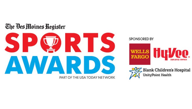 The Des Moines Register Sports Awards logo.