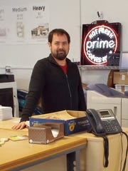 Daniel Clark, owner of the Prime Print Shop in Poughkeepsie