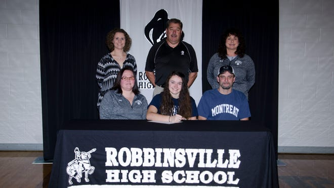 Robbinsville senior Daylee Brooms has signed to play college volleyball for Montreat.