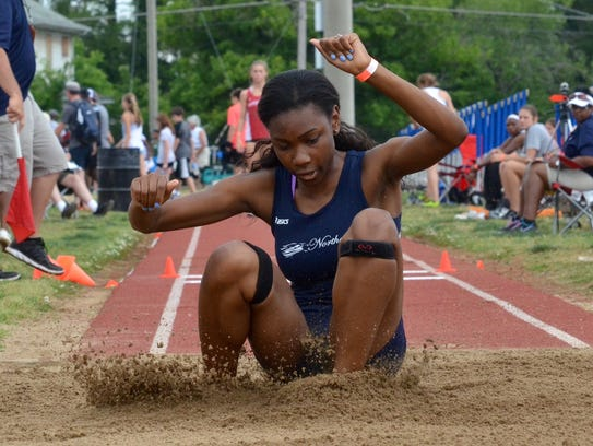 Danielle Craft competes in the triple jump during the 2016 state meet.