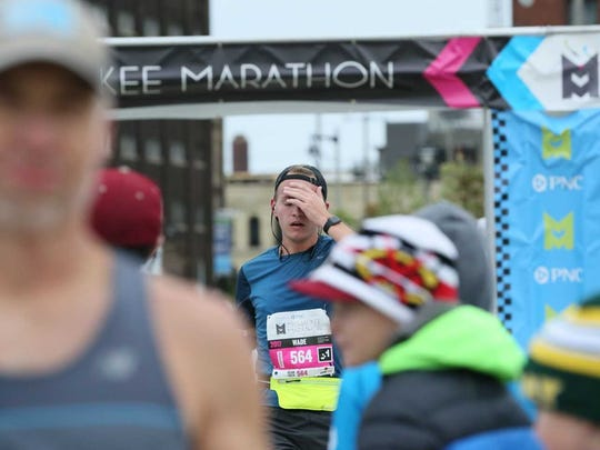 Wade Snowden finished the PNC Milwaukee Marathon in 3 hours and 29 minutes.