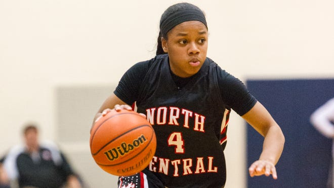North Central junior Savaya Brockington scored 23 points for the Panthers, who knocked off Carmel 66-58