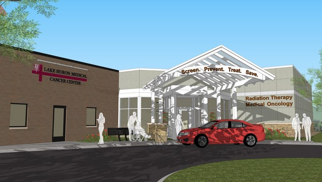 Officials hope to begin treating patients at Lake Huron Medical Center's expanded cancer center in February 2016.