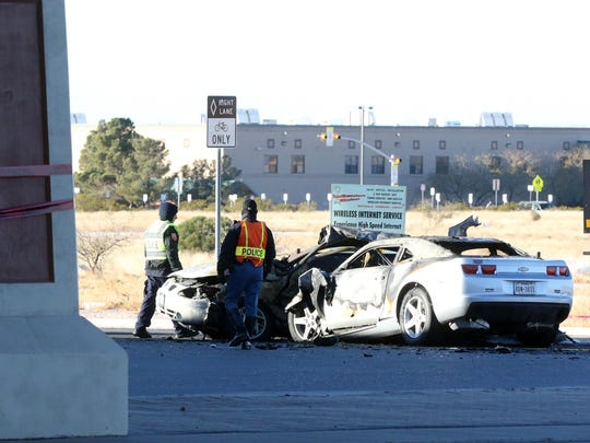 This was the scene Dec. 24, 2014, at the intersection of Joe Battle Boulevard and Vista del Sol Drive after a collision in which El Paso boxer Joel Garcia Jr. is accused of killing three people in a two-car accident that Christmas Eve.