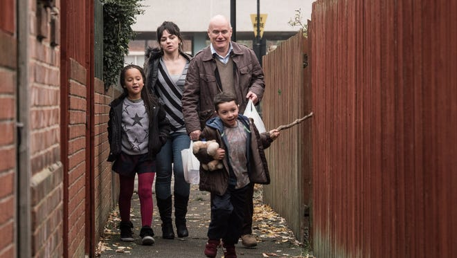 """""""I, Daniel Blake"""" stars  Briana Shann (from left), Hayley Squires, Dave Johns and Dylan McKiernan."""