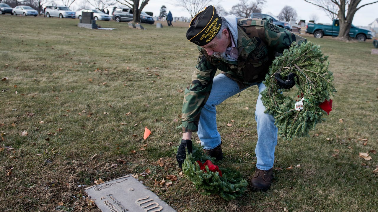For the past five years, Wreaths Across America honors veterans by reading their names and laying a wreath on their headstones.