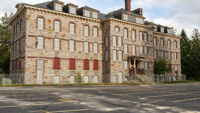 The Hale Building on the grounds of the former Worcester State Hospital Monday.