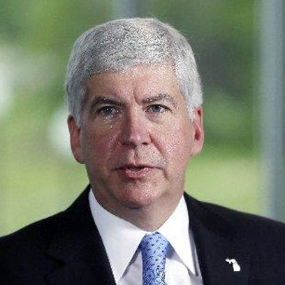 Gov. Rick Snyder was critical of the surprise front-runner