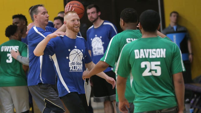 2002 Clear Fork Alumn Mark DeLaney participated in the 40th Mansfield News Journal All-Star Classic alumni game. He was named the head coach at Cardington-Lincoln on Monday.