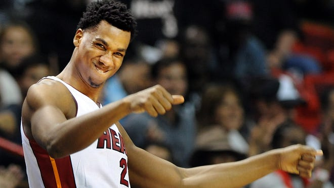 Miami Heat center Hassan Whiteside (21) has been more than solid this season.