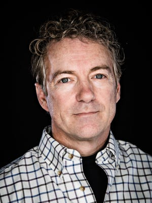 Republican presidential candidate Sen. Rand Paul, R-Ky., at the Des Moines Register Monday, Jan. 18, 2016.