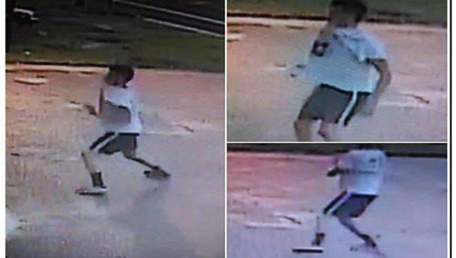 Suspect sought for vandalizing Mainiero Appliances in Vineland.