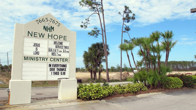 The acreage recently cleared next to the New Hope Ministry Center on Davis Boulevard will be the future home of Legacy Naples Apartments.