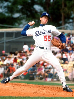 Los Angeles Dodgers pitcher Orel Hershiser threw against the Montreal Expos during a spring training game in March 1992 in Holman Stadium in Vero Beach.